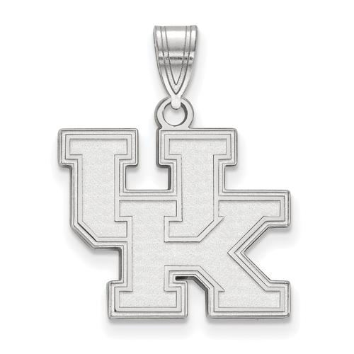Sterling Silver 5/8in University of Kentucky UK Pendant