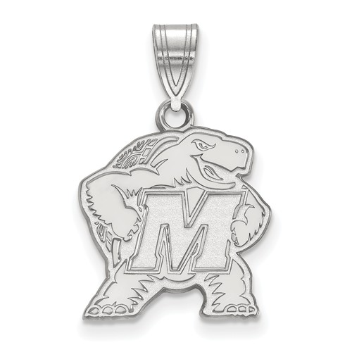 Sterling Silver 5/8in University of Maryland Terrapin Pendant