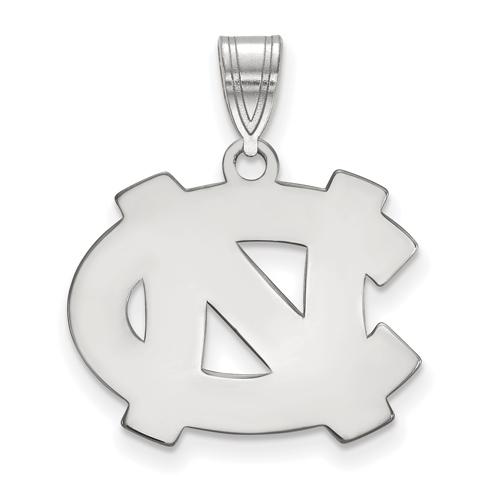Sterling Silver 5/8in University of North Carolina Wilmington Enamel Disc Pendant