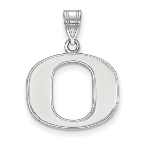 Sterling Silver 5/8in University of Oregon O Pendant