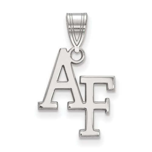 United States Air Force Academy AF Pendant 5/8in 14k White Gold