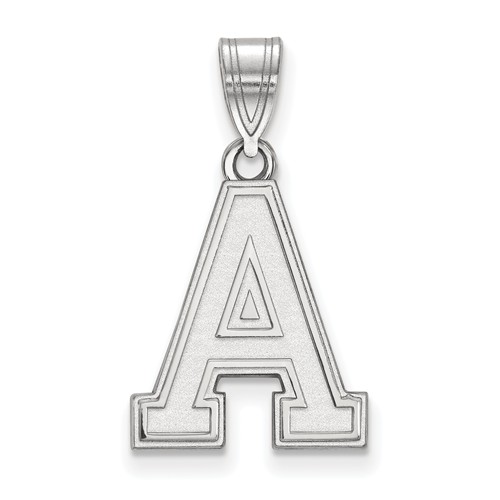 United States Military Academy Block A Pendant 5/8in 10k White Gold