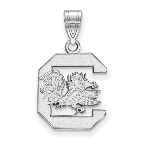 Sterling Silver 5/8in University of South Carolina Logo Pendant