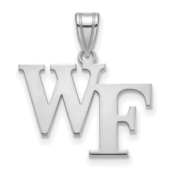 Wake Forest University WF Pendant 5/8in Sterling Silver