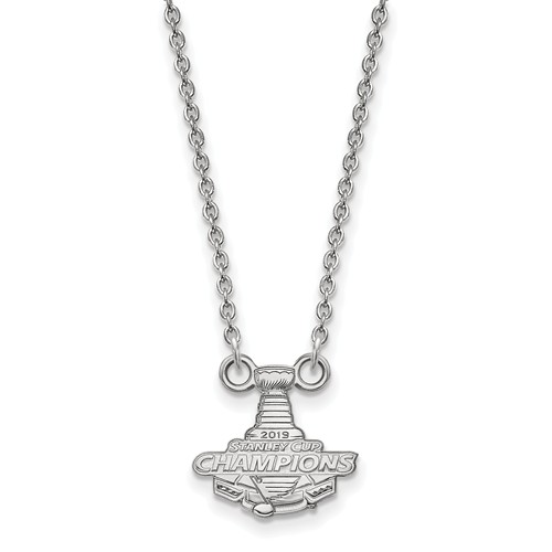 Sterling Silver Small St. Louis Blues 2019 Stanley Cup Necklace