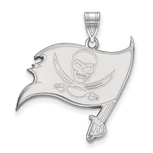 Sterling Silver 1in Tampa Bay Buccaneers Pendant