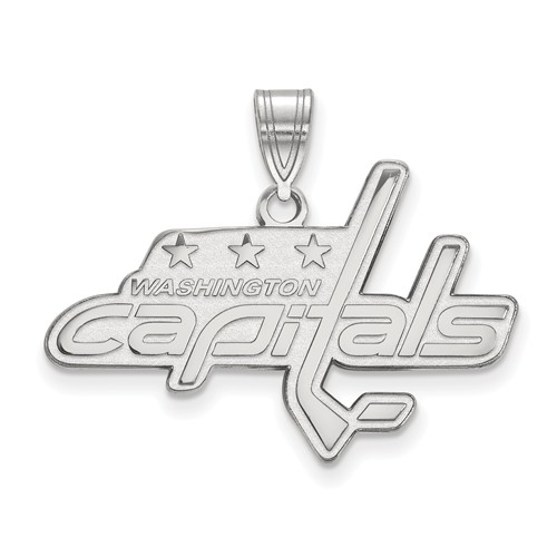 Sterling Silver 3/4in Washington Capitals Pendant