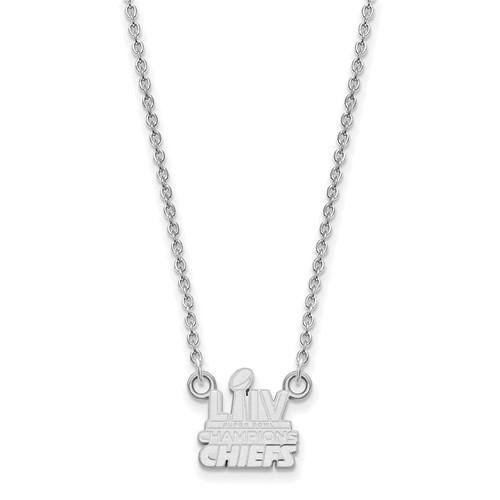 Sterling Silver Small Kansas City Chiefs Super Bowl LIV Necklace