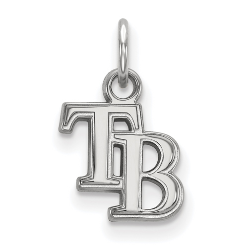 10k White Gold 3/8in Tampa Bay Rays TB Pendant