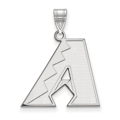 Sterling Silver 3/4in Round Arizona Diamondbacks Pendant
