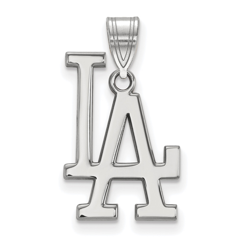 10k White Gold Los Angeles Dodgers LA Pendant
