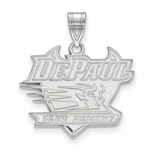 DePaul University Logo Pendant 3/4in Sterling Silver