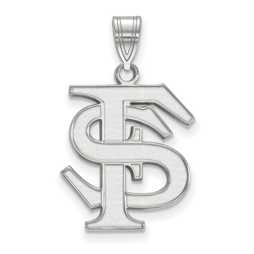 Sterling Silver 3/4in Florida State University FS Pendant