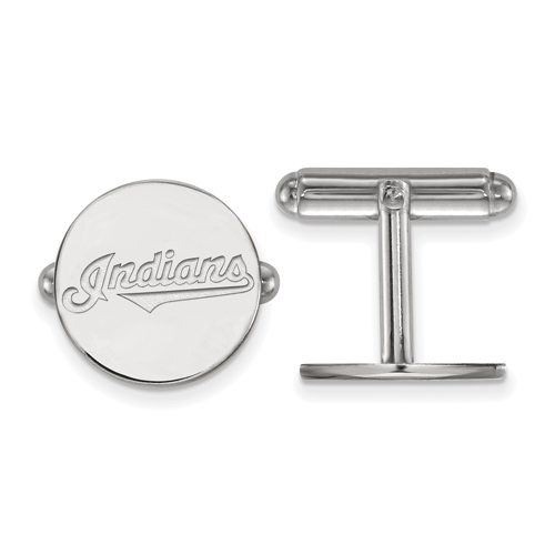 Sterling Silver Cleveland Indians Cuff Links