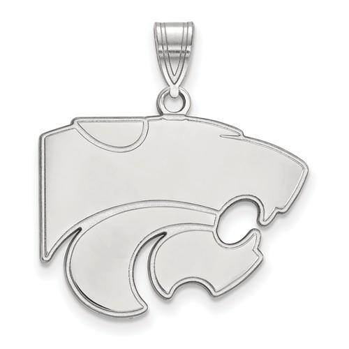 Kansas State University Wildcat Pendant 3/4in Sterling Silver