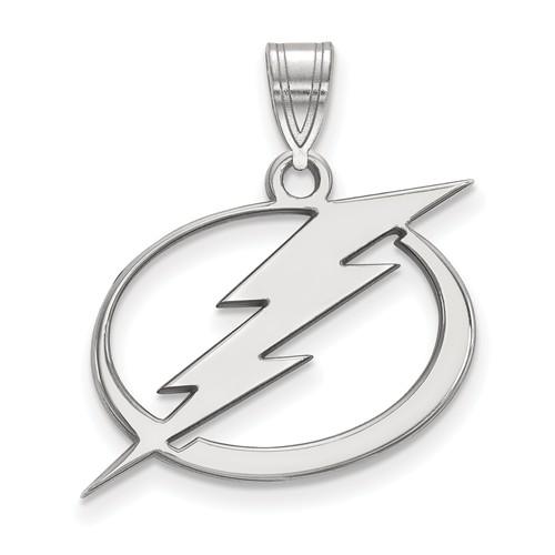 Sterling Silver 3/4in Tampa Bay Lightning Pendant