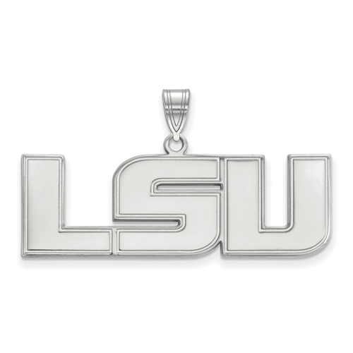 Sterling Silver 5/8in Louisiana State University LSU Pendant