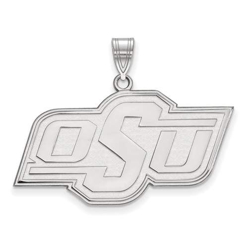 Sterling Silver 3/4in Oklahoma State University OSU Pendant
