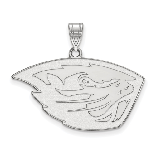 Sterling Silver 3/4in Oregon State University Beaver Head Pendant