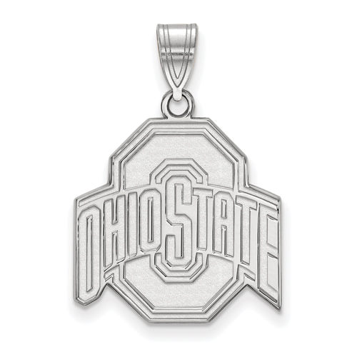 Sterling Silver 3/4in Ohio State University Pendant