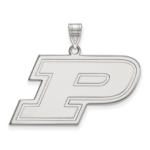 Sterling Silver Purdue University P Pendant 3/4in
