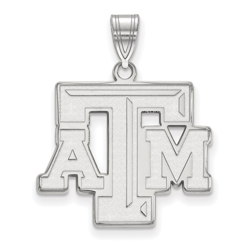 Sterling Silver 3/4in Texas A&M University Logo Pendant
