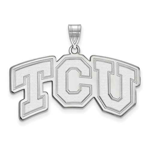 Sterling Silver Large TCU Arched Outline Pendant
