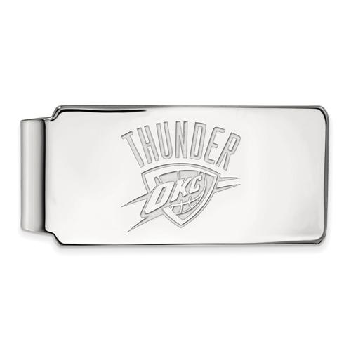 Sterling Silver Oklahoma City Thunder Money Clip