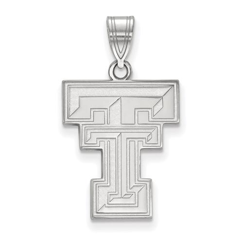 Sterling Silver 3/4in Texas Tech University TT Logo Pendant