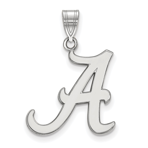 Sterling Silver 3/4in University of Alabama Script A Pendant