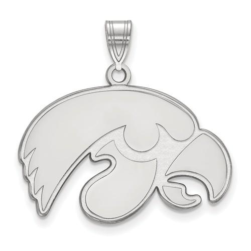 University of Iowa Logo Pendant 3/4in Sterling Silver