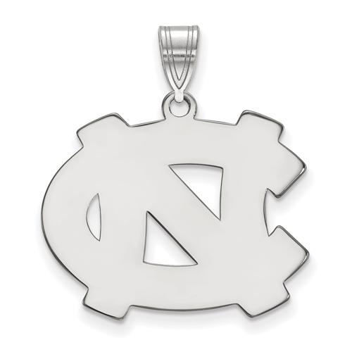 Silver 3/4in University of North Carolina Greensboro Disc Pendant