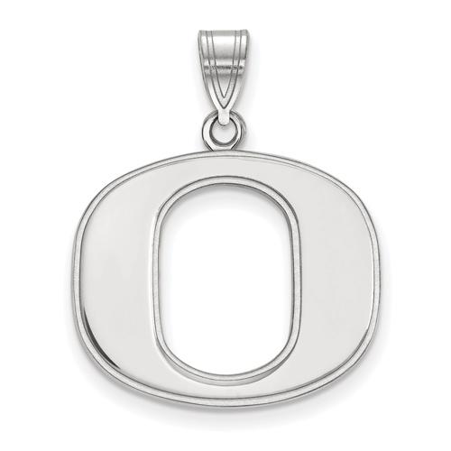 Sterling Silver 3/4in University of Oregon O Pendant