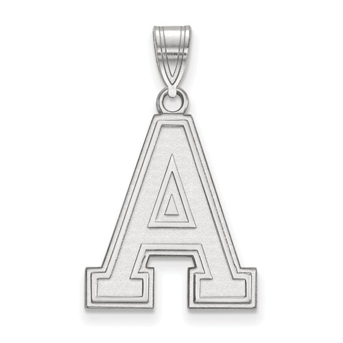 United States Military Academy Logo Pendant 3/4in 10k White Gold