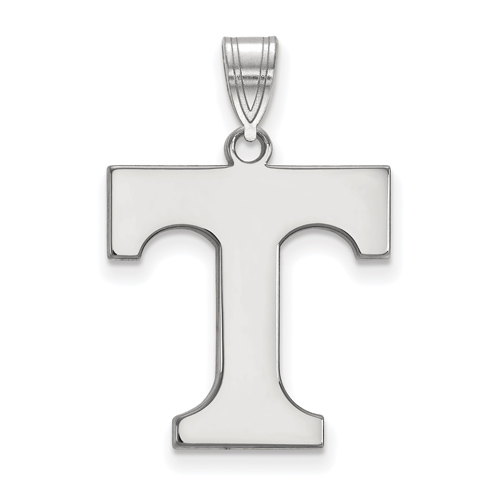 Sterling Silver 3/4in University of Tennessee T Pendant