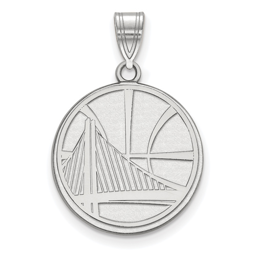 Sterling Silver Golden State Warriors 3/4in Pendant