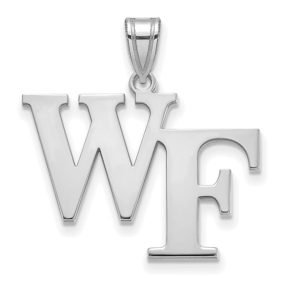 Wake Forest University WF Pendant 3/4in Sterling Silver