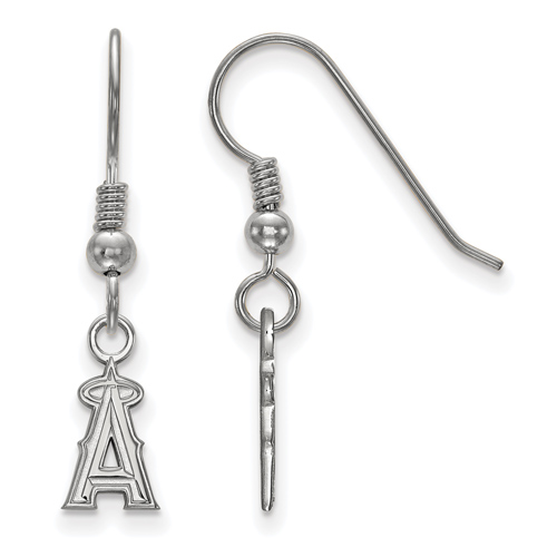 Sterling Silver Extra Small Los Angeles Angels Dangle Earrings