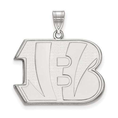 Sterling Silver Extra Large Cincinnati Bengals Pendant