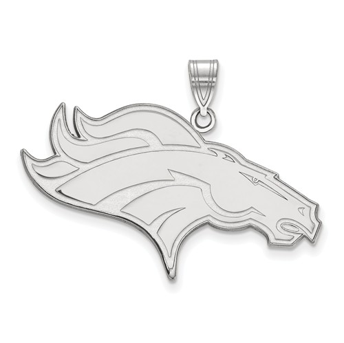 Sterling Silver 1 1/2in Denver Broncos Pendant