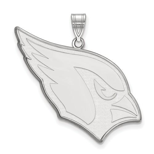 14k White Gold 1in Arizona Cardinals Pendant