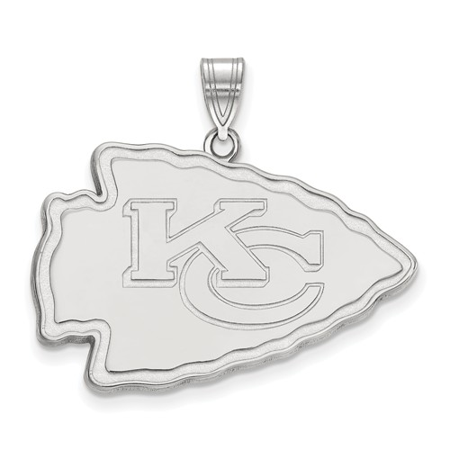 14k White Gold Extra Large Kansas City Chiefs Pendant
