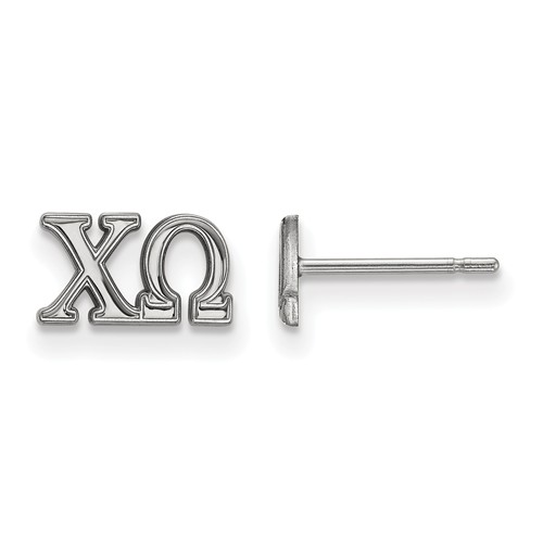 Sterling Silver Chi Omega Extra Small Earrings