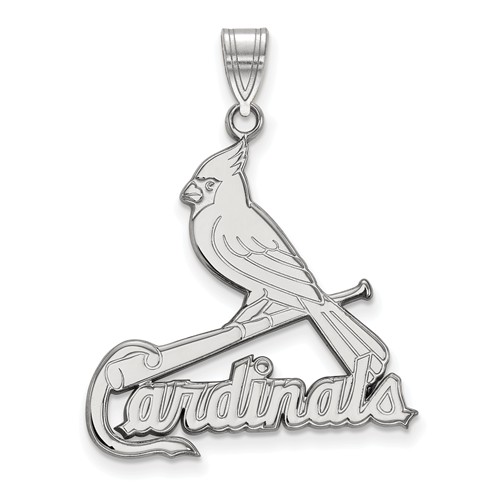 Sterling Silver 1in St. Louis Cardinals Bird Pendant