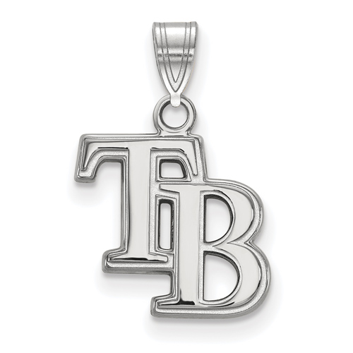 Sterling Silver 5/8in Tampa Bay Rays TB Pendant