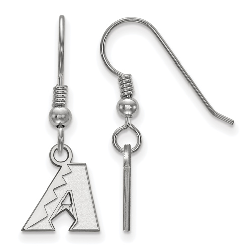 Sterling Silver Extra Small Arizona Diamondbacks Dangle Earrings