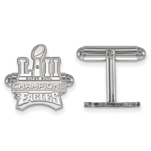 Sterling Silver Philadelphia Eagles Super Bowl LII Trophy Cuff Links