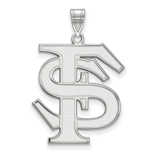 Sterling Silver 1in Florida State University Logo Pendant
