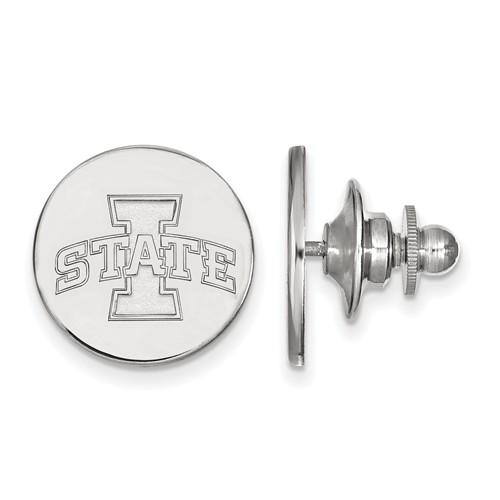 Iowa State University Logo Lapel Pin Sterling Silver