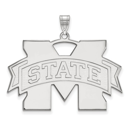 Sterling Silver 1in Mississippi State University Pendant